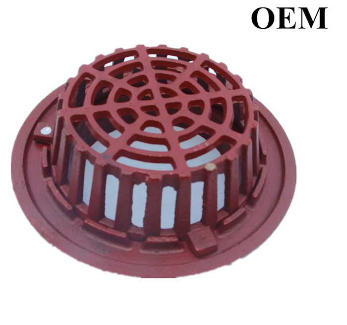 Cast Iron Roof Drain Parts, Rings And Domes, Foundry In China
