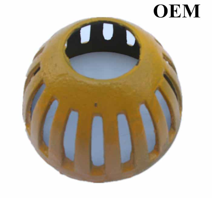 Cast Iron Roof Drain Dome According to Drawing, Chinese Factory OEM